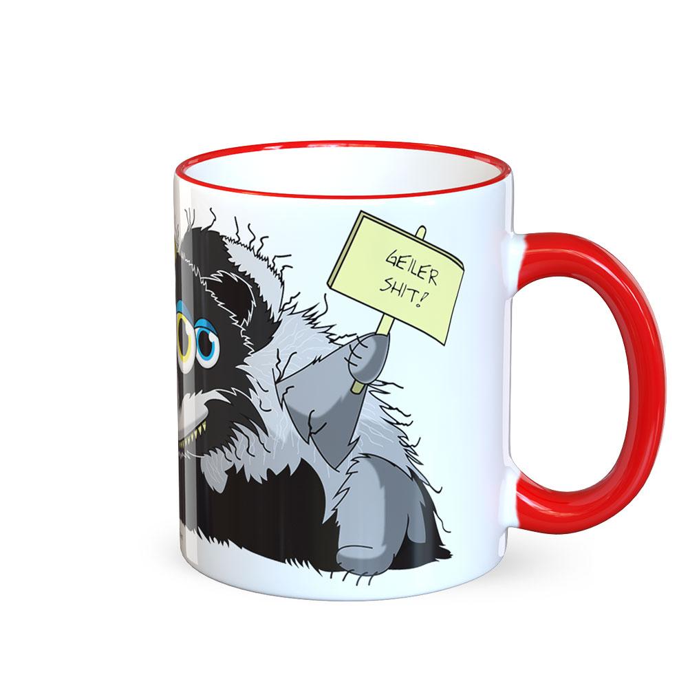 berlin-monster-art tasse büro arbeit kaffeetasse tassen schenken bedruckte monster-tasse mit witzigem motiv tasso dachs
