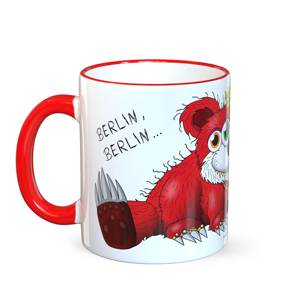 berlin-monster-art tasse büro arbeit kaffeetasse tassen schenken bedruckte monster-tasse mit witzigem motiv berliner bär baer berlin