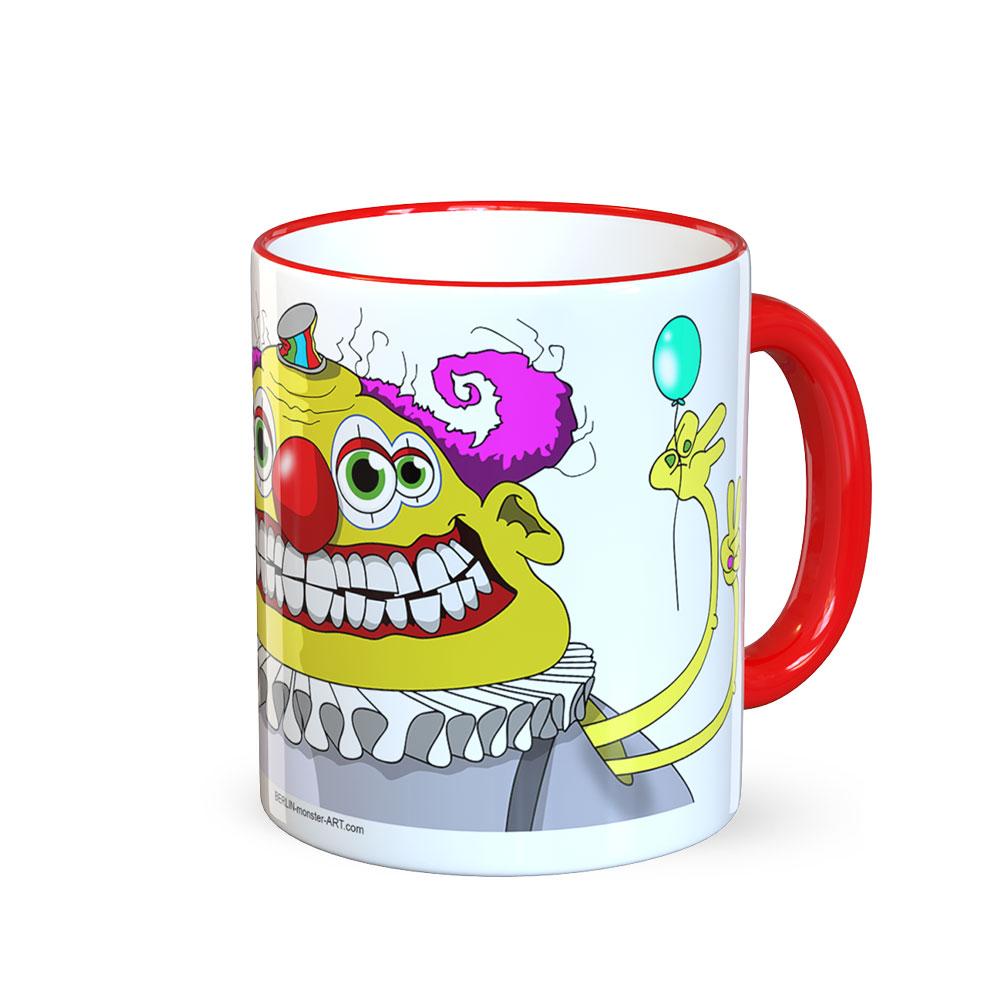 berlin-monster-art tasse büro arbeit kaffeetasse tassen bedruckte monster-tasse mit witzigem motiv clown