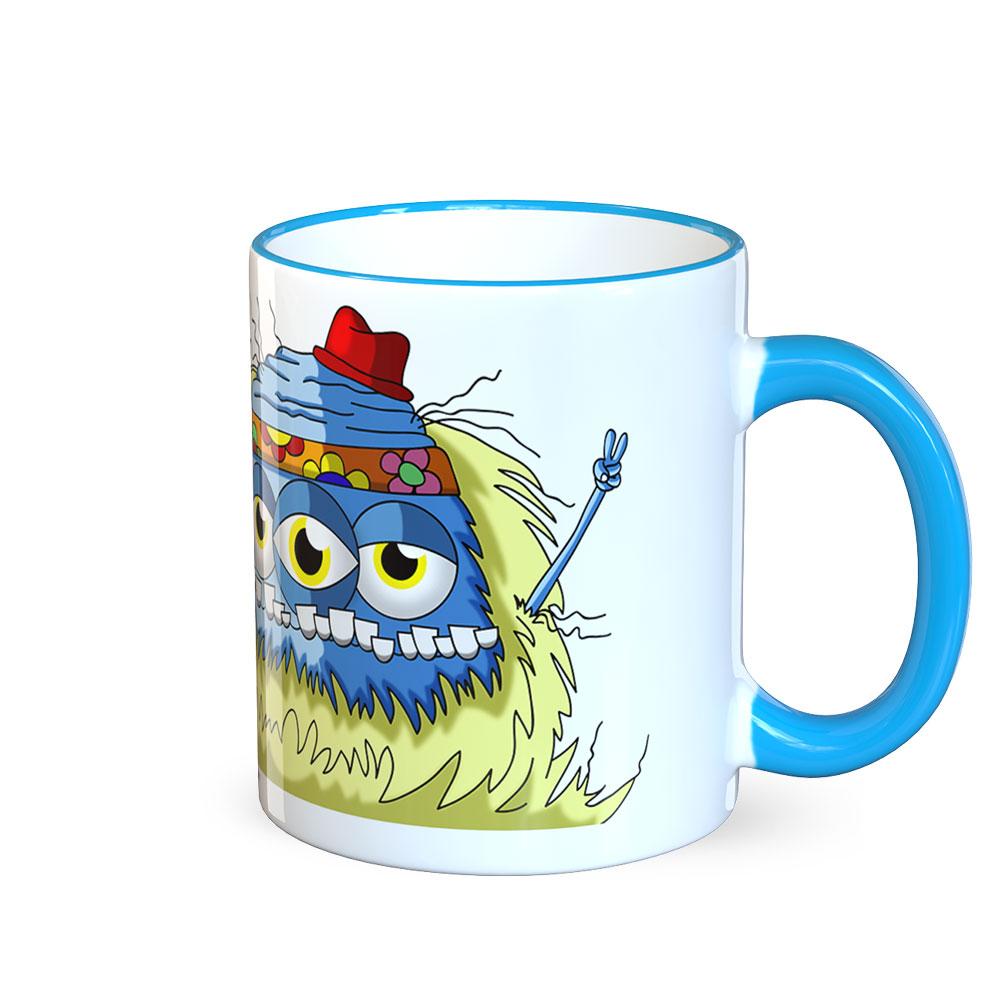 berlin-monster-art tasse büro arbeit kaffeetasse tassen bedruckte monster-tasse mit witzigem motiv edward revolution