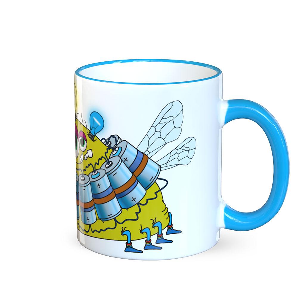 berlin-monster-art tasse büro arbeit kaffeetasse tassen bedruckte monster-tasse mit witzigem motiv energy programmierer informatik