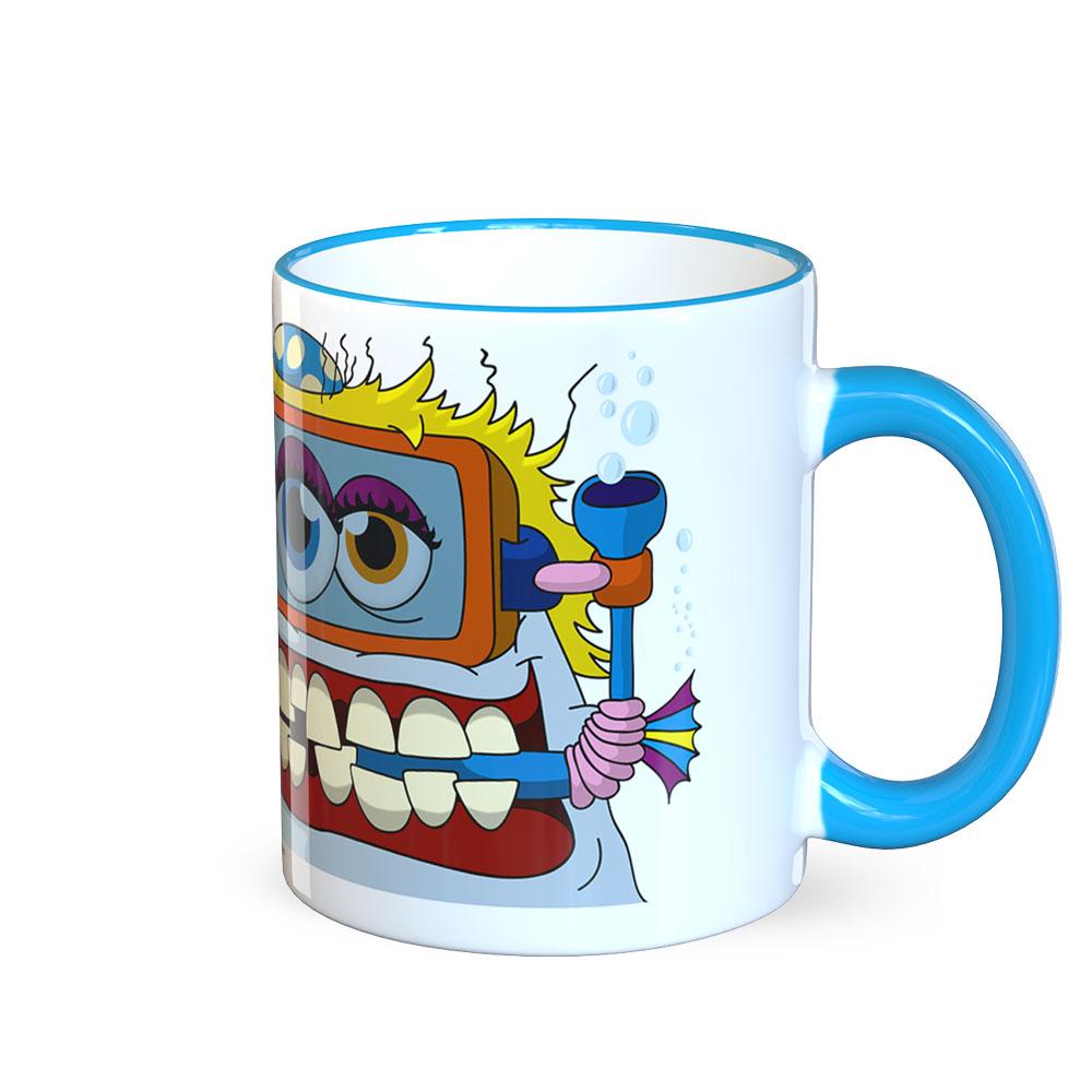 berlin-monster-art tasse büro arbeit kaffeetasse tassen bedruckte monster-tasse mit witzigem motiv sternzeichen fische fishy