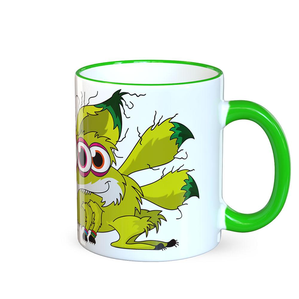 berlin-monster-art tasse büro arbeit kaffeetasse tassen bedruckte monster-tasse mit witzigem motiv schlauer fuchs fox
