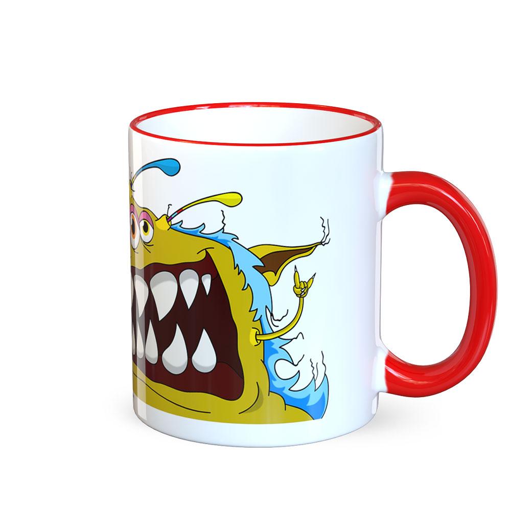 berlin-monster-art tasse büro arbeit kaffeetasse tassen bedruckte monster-tasse mit witzigem motiv heinz monster