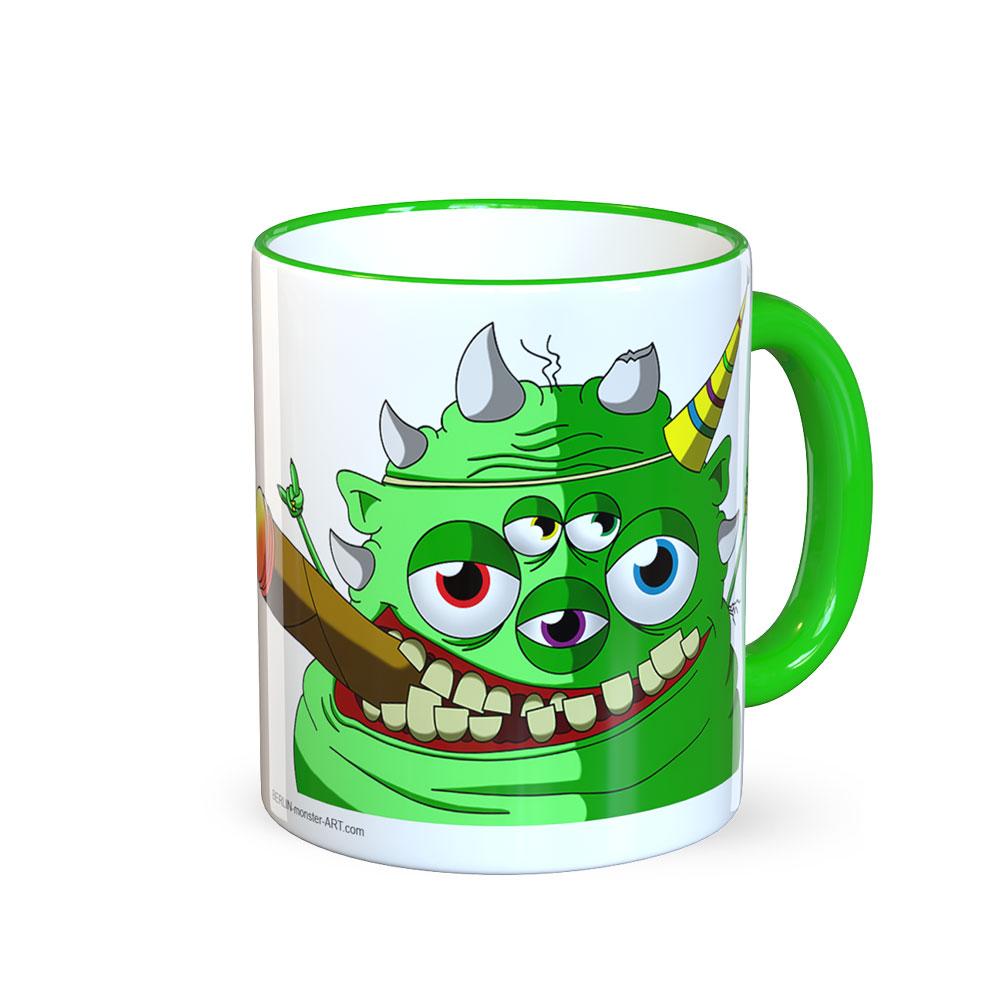 berlin-monster-art tasse büro arbeit kaffeetasse tassen schenken bedruckte monster-tasse mit witzigem motiv hugo