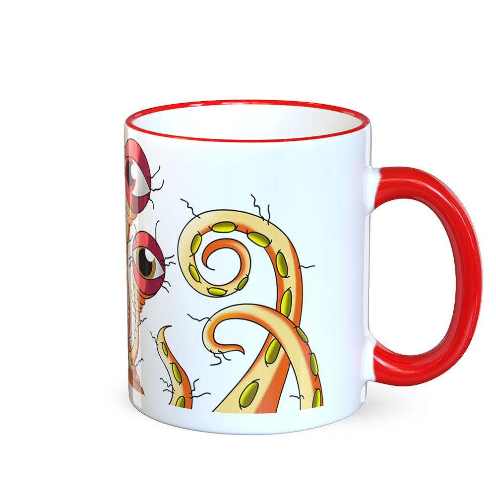 berlin-monster-art tasse büro arbeit kaffeetasse tassen schenken bedruckte monster-tasse mit witzigem motiv klara