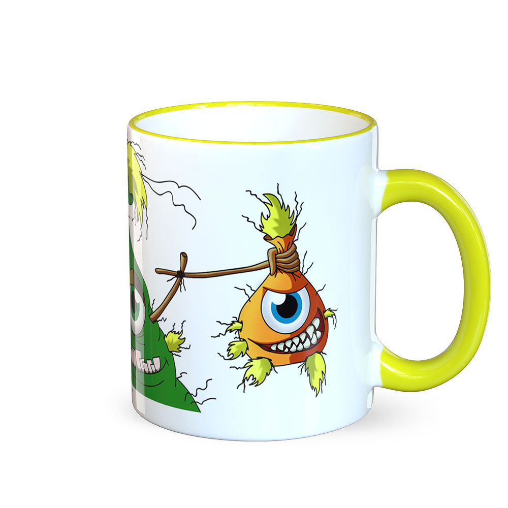 berlin-monster-art tasse büro arbeit kaffeetasse tassen schenken bedruckte monster-tasse mit witzigem motiv saqcue strohkopf