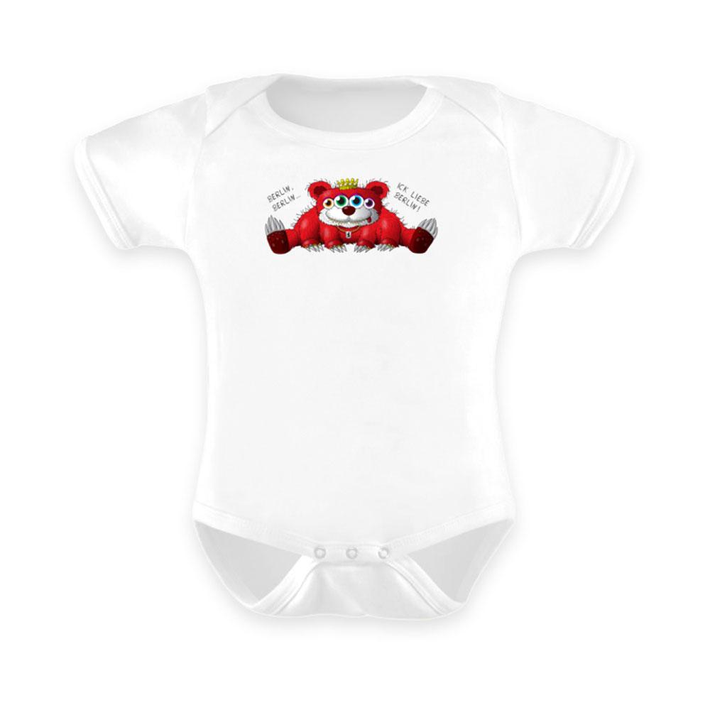 Baby-Strampler baby body-s bodies strampler lang-arm kurz-arm mädchen junge papa mama mit spruch sprüche-n berliner-baer bär