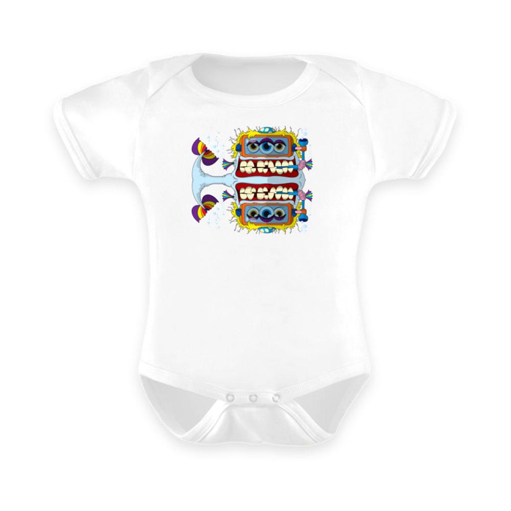 Baby-Strampler baby body-s bodies strampler lang-arm kurz-arm mädchen junge papa mama mit spruch sprüche-n fishy