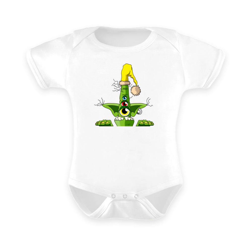Baby-Strampler baby body-s bodies strampler lang-arm kurz-arm mädchen junge papa mama mit spruch sprüche-n anzug green