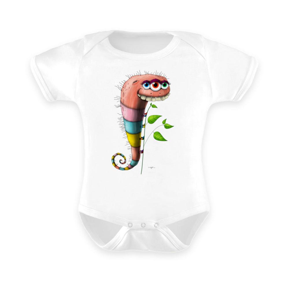 baby-strampler strampler baby-anzug berlin-monster-art outfit wurmi wurm