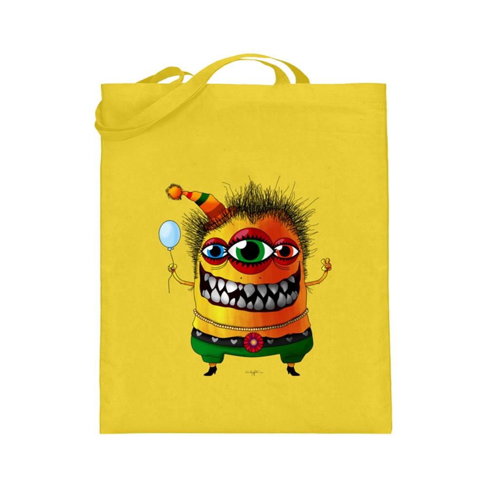 jute-beutel berlin-monster-art bedruckte tasche-n einkaufen geburtstag verschenken geschenkidee monster streetart blossom blüte bluete herz blume