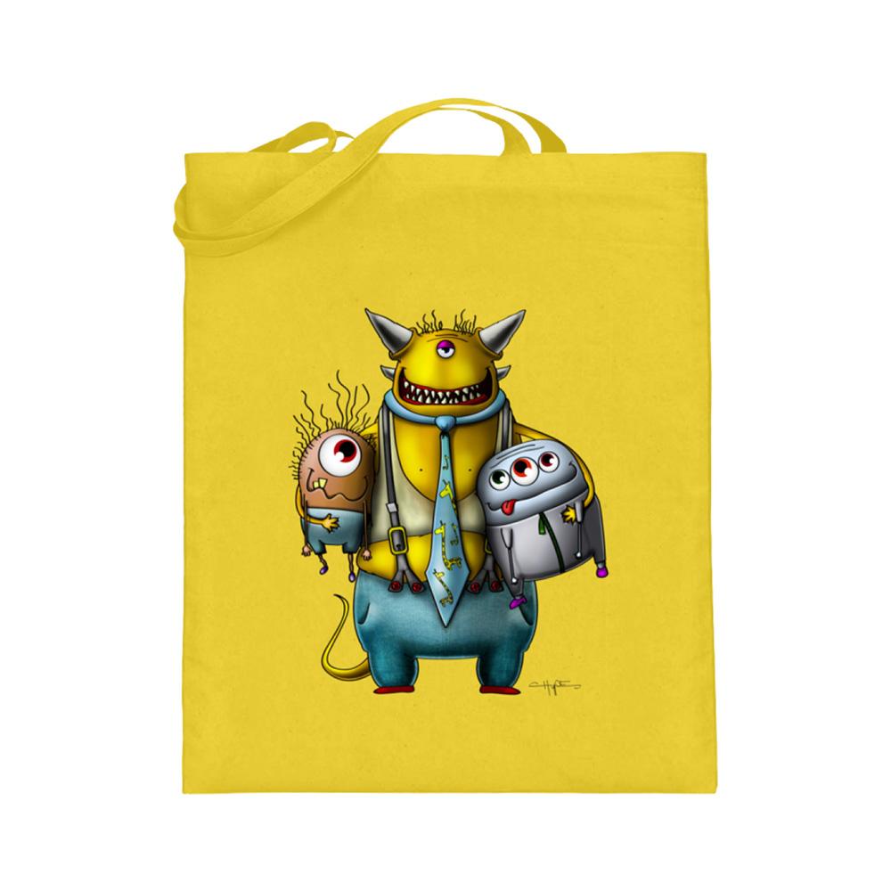 jute-beutel berlin-monster-art bedruckte tasche-n einkaufen geburtstag verschenken geschenkidee monster streetart devo devil kumpel party 3-monster