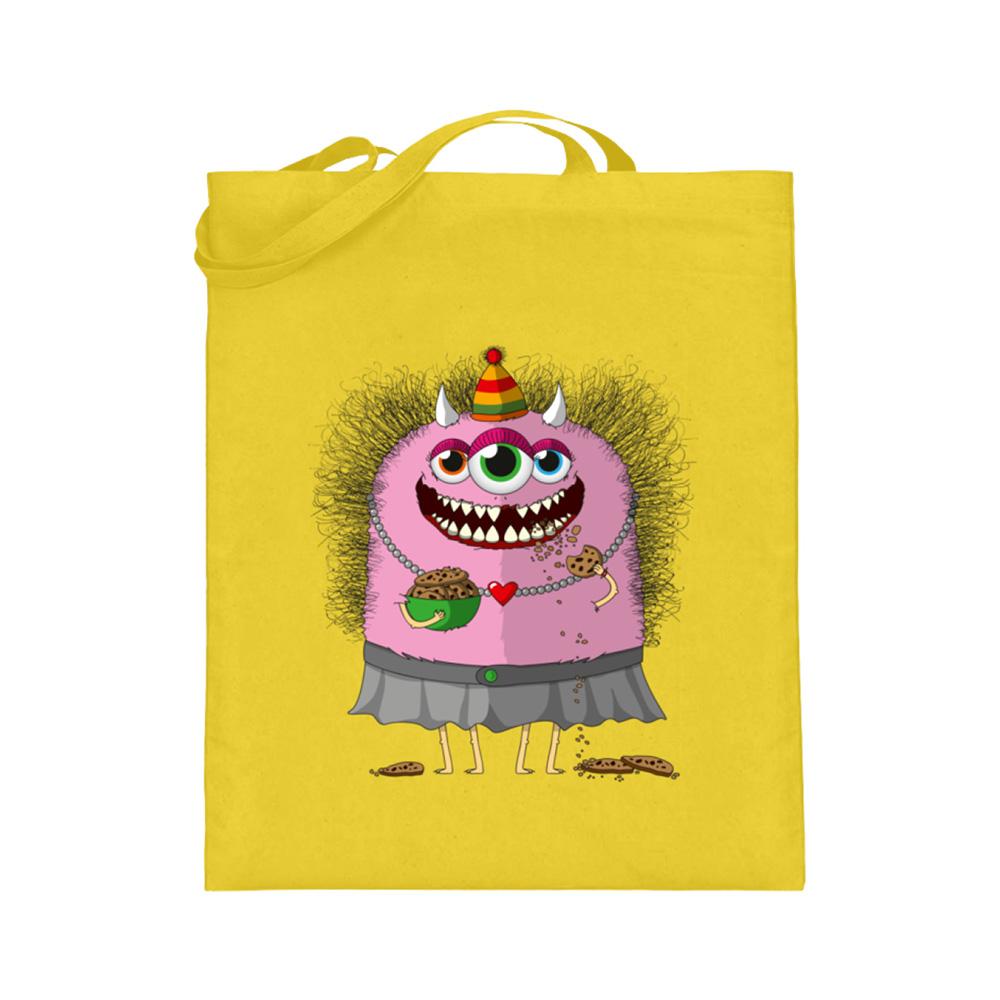 jute-beutel berlin-monster-art bedruckte tasche-n einkaufen geburtstag verschenken geschenkidee monster streetart kekse helgard krümel herz liebe knabbern spaß