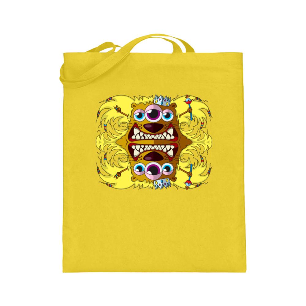 jute-beutel berlin-monster-art bedruckte tasche-n einkaufen geburtstag verschenken geschenkidee monster streetart leo leonard king könig sternzeichen