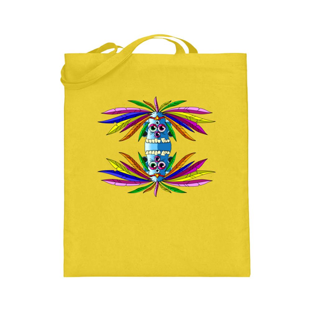 jute-beutel berlin-monster-art bedruckte tasche-n einkaufen geburtstag verschenken geschenkidee monster streetart manolo idianer federn