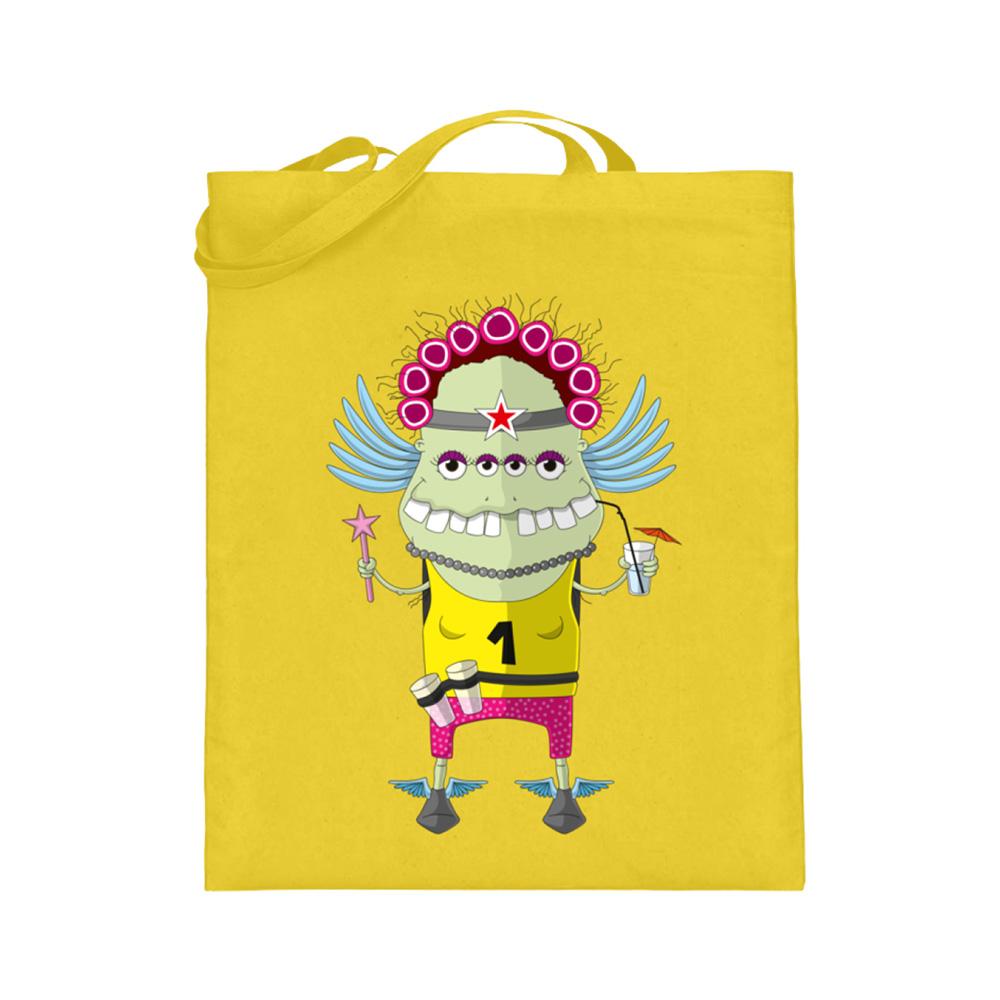 jute-beutel berlin-monster-art bedruckte tasche-n einkaufen geburtstag verschenken geschenkidee monster streetart muddy angel engel hermes laufen marathon