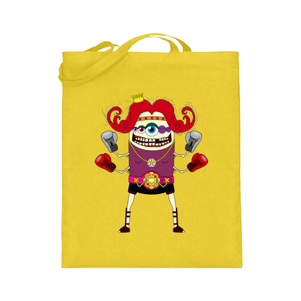 jute-beutel berlin-monster-art bedruckte tasche-n einkaufen geburtstag verschenken geschenkidee monster streetart la boxita boxen kickboxen