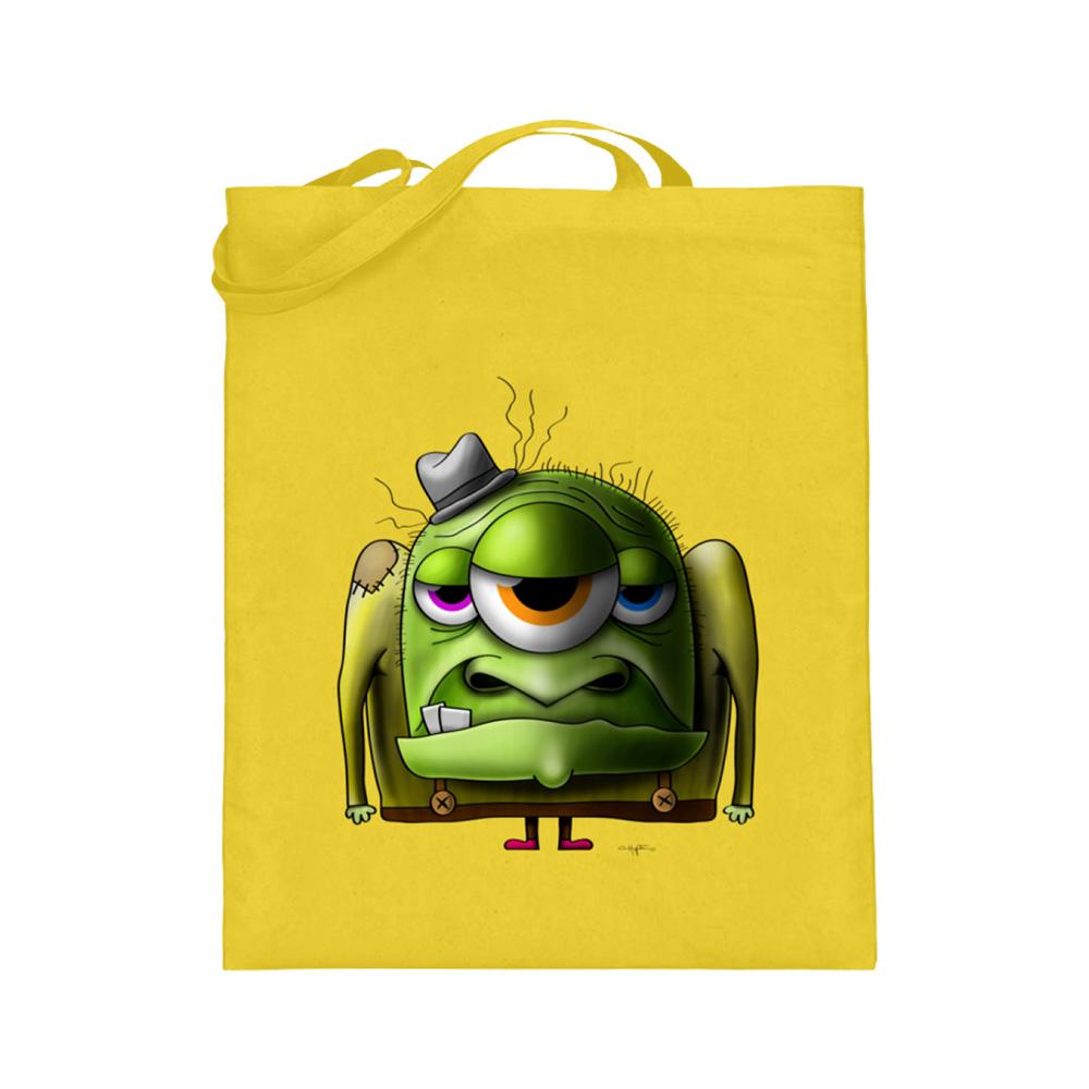 jute-beutel berlin-monster-art bedruckte tasche-n einkaufen geburtstag verschenken geschenkidee monster streetart old man alter mann cool