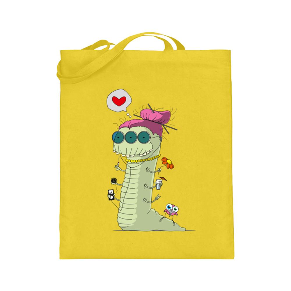 jute-beutel berlin-monster-art bedruckte tasche-n einkaufen geburtstag verschenken geschenkidee monster streetart alter wurm herz liebe