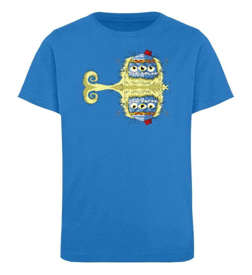 berlin-monster-art-shirt-kids-edward - Kinder Organic T-Shirt premium-druck langlebiger print lustiges monster blau