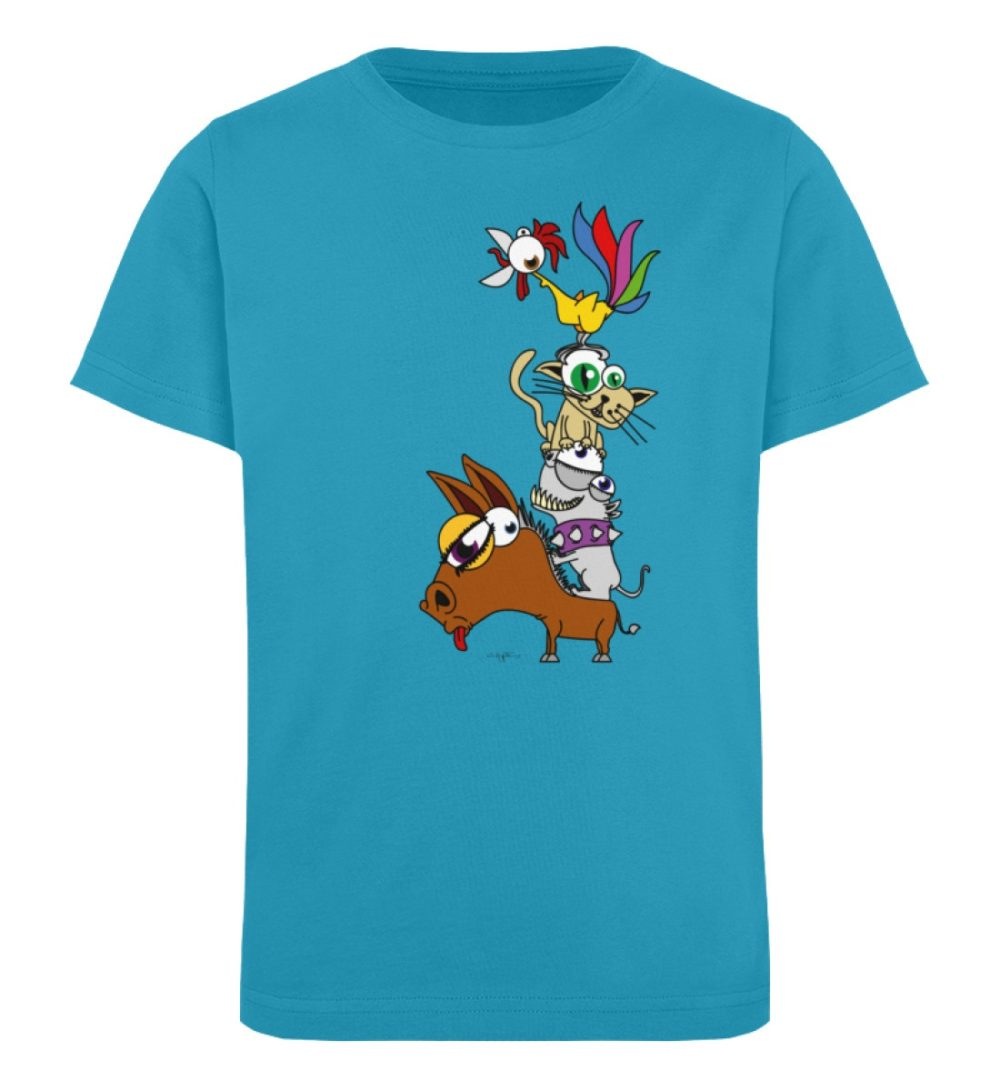 berlin-monster-art-shirt-kids-musikanten - Kinder Organic T-Shirt-6885