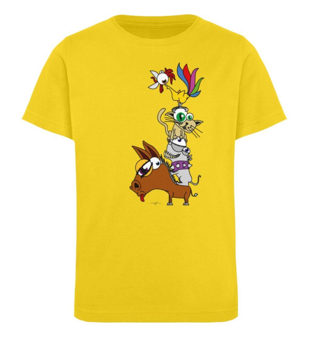 berlin-monster-art-shirt-kids-musikanten - Kinder Organic T-Shirt-6905