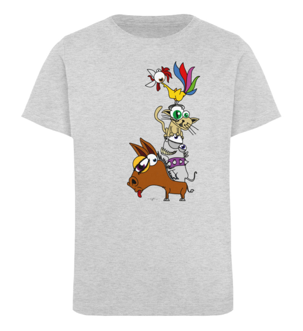 berlin-monster-art-shirt-kids-musikanten - Kinder Organic T-Shirt-6892
