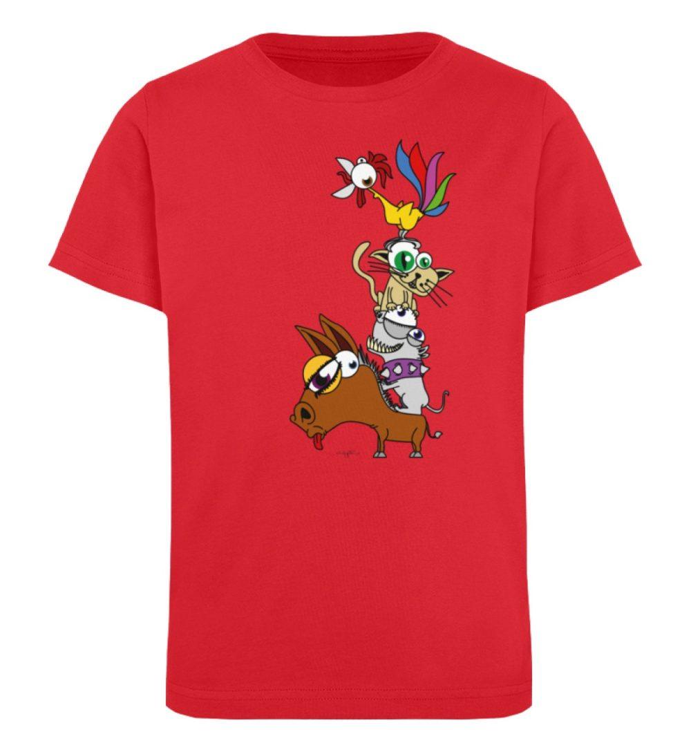 berlin-monster-art-shirt-kids-musikanten - Kinder Organic T-Shirt-6882