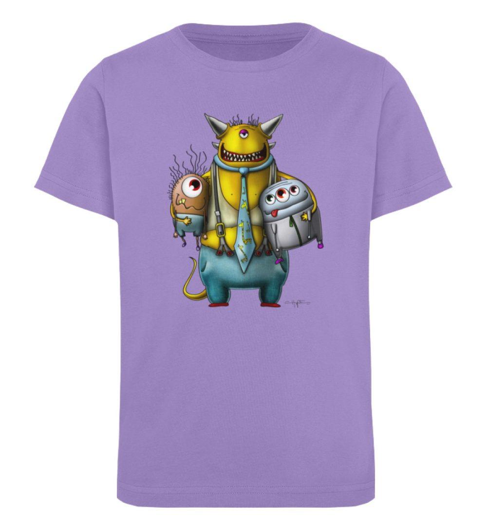 berlin-monster-art-shirt-kids-nice-devil - Kinder Organic T-Shirt-6904