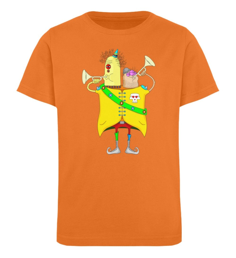 berlin-monster-art-shirt-kids-trompeter - Kinder Organic T-Shirt-6902