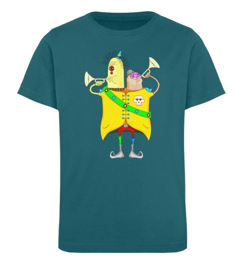 berlin-monster-art-shirt-kids-trompeter - Kinder Organic T-Shirt-6889