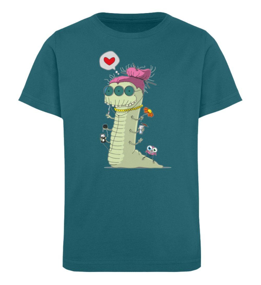 berlin-monster-art-shirt-kids-old-wurm - Kinder Organic T-Shirt-6889