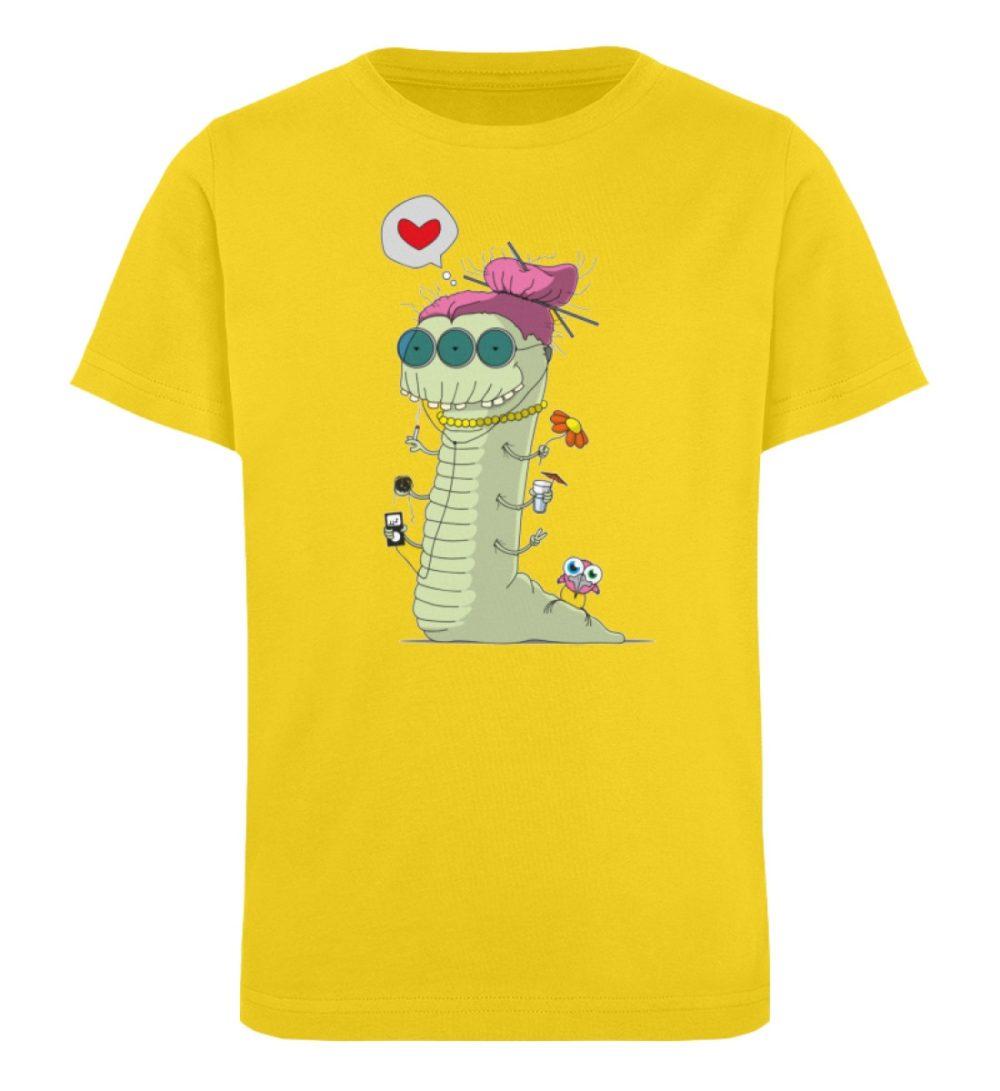 berlin-monster-art-shirt-kids-old-wurm - Kinder Organic T-Shirt-6905