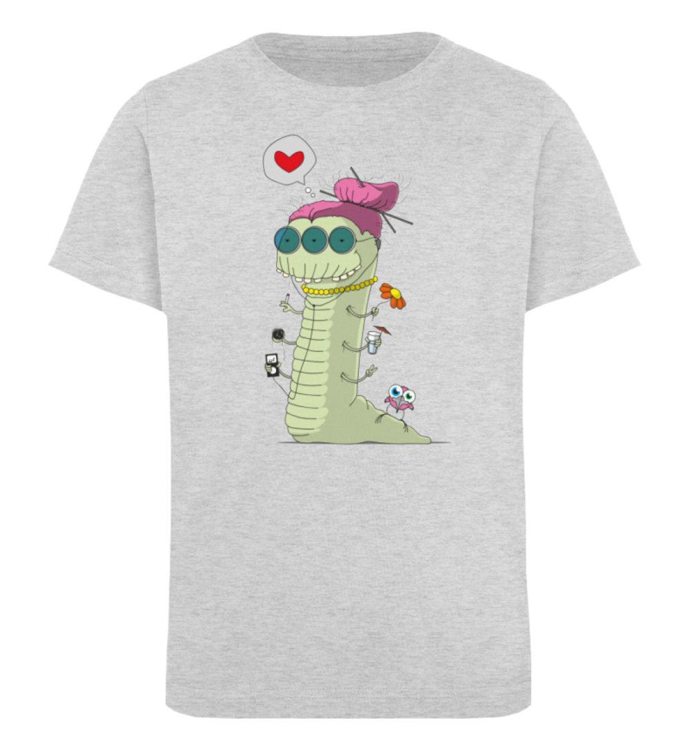 berlin-monster-art-shirt-kids-old-wurm - Kinder Organic T-Shirt-6892