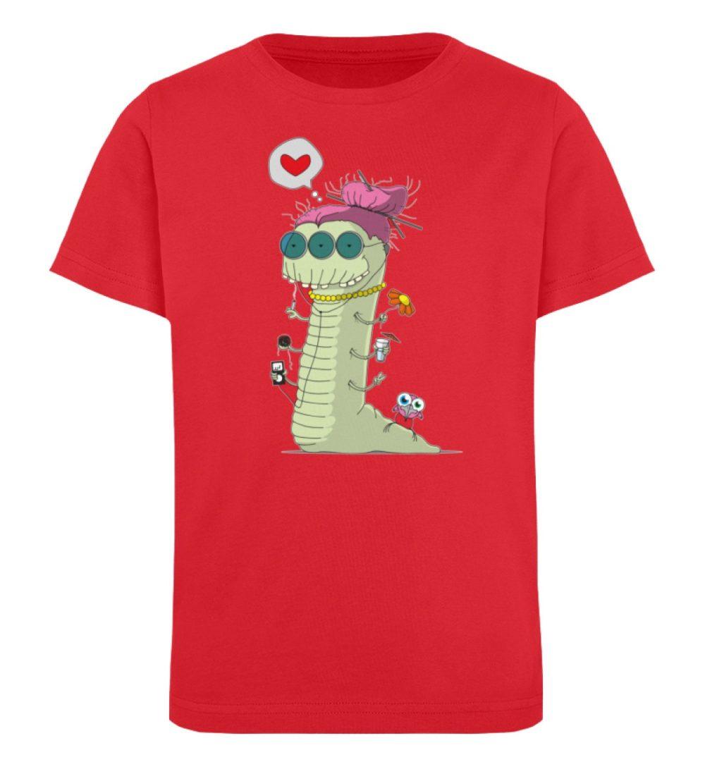 berlin-monster-art-shirt-kids-old-wurm - Kinder Organic T-Shirt-6882