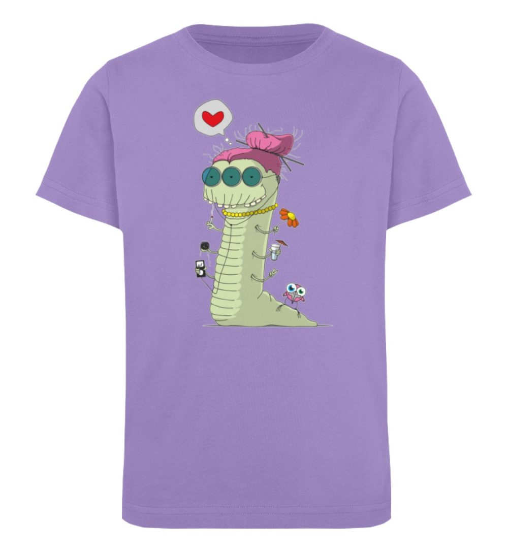berlin-monster-art-shirt-kids-old-wurm - Kinder Organic T-Shirt-6904