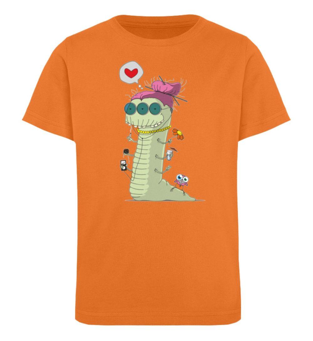 berlin-monster-art-shirt-kids-old-wurm - Kinder Organic T-Shirt-6902