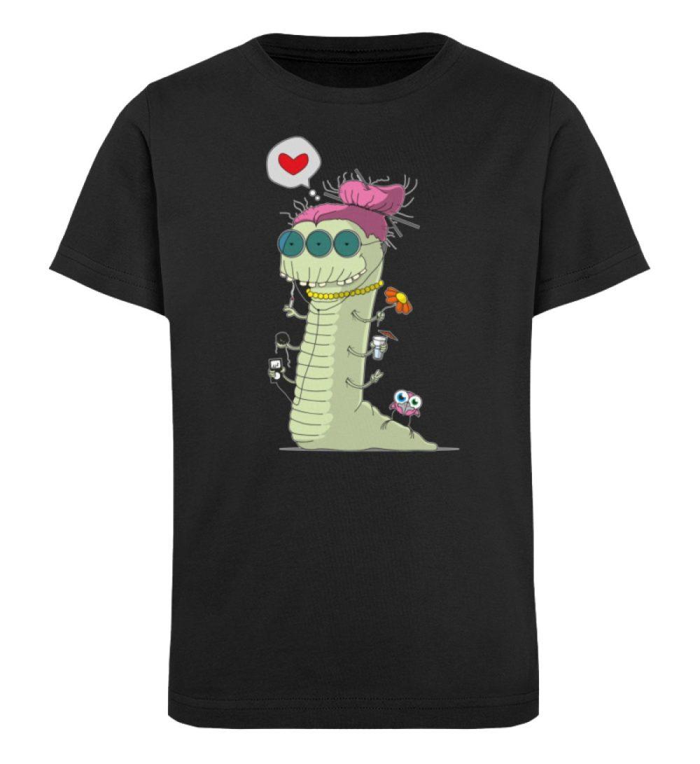 berlin-monster-art-shirt-kids-old-wurm - Kinder Organic T-Shirt-16