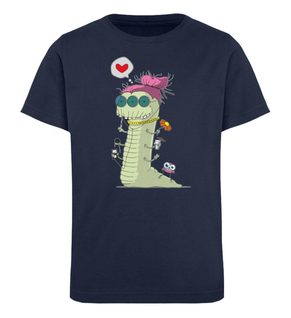 berlin-monster-art-shirt-kids-old-wurm - Kinder Organic T-Shirt-6887
