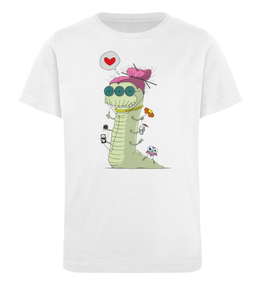 berlin-monster-art-shirt-kids-old-wurm - Kinder Organic T-Shirt-3