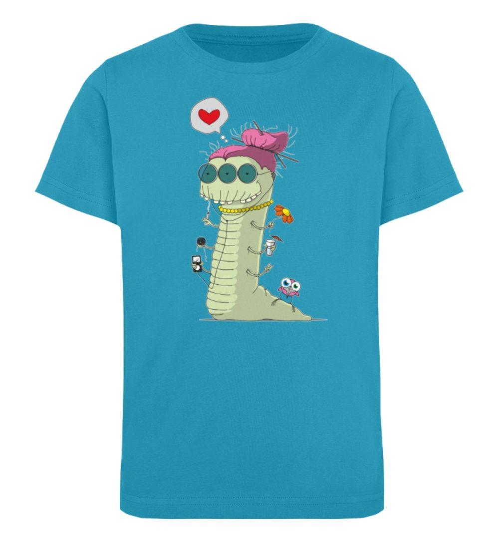 berlin-monster-art-shirt-kids-old-wurm - Kinder Organic T-Shirt-6885