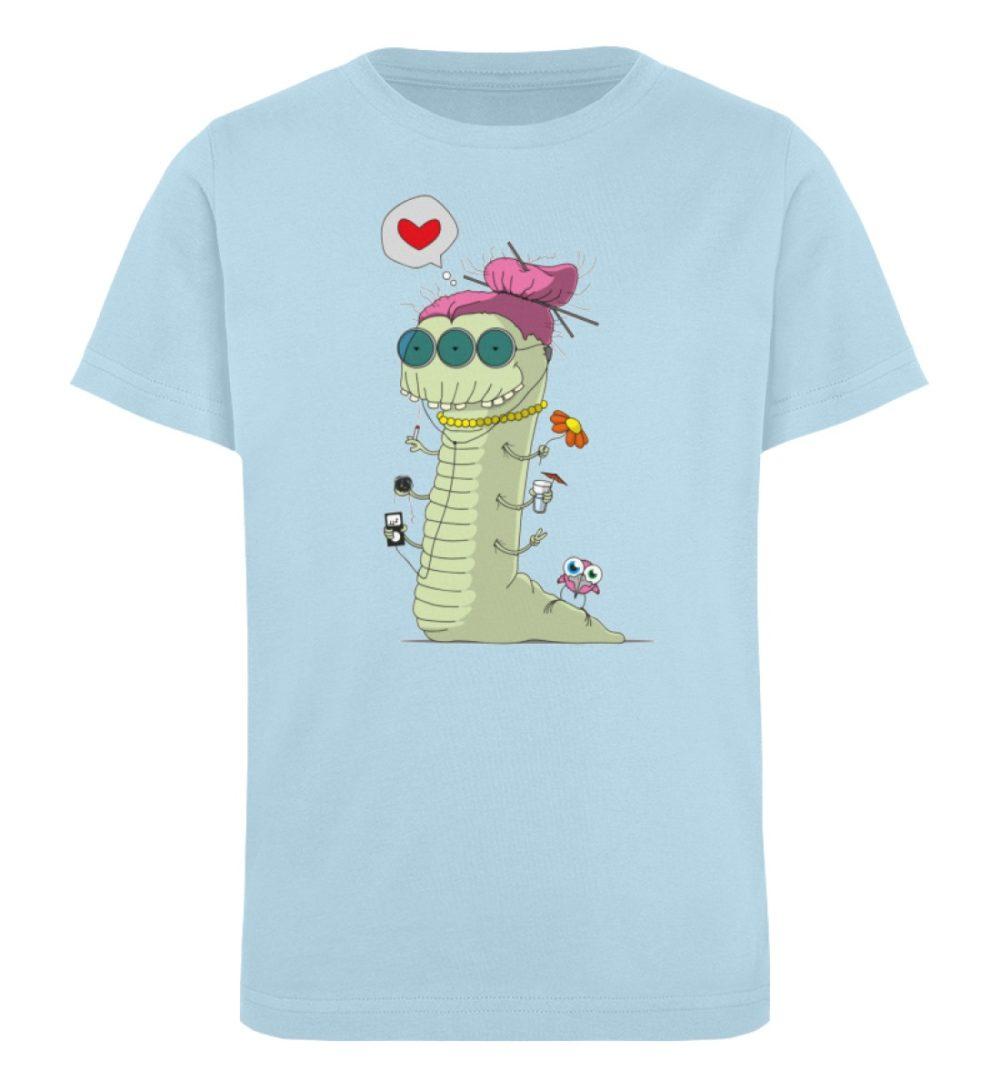 berlin-monster-art-shirt-kids-old-wurm - Kinder Organic T-Shirt-6888