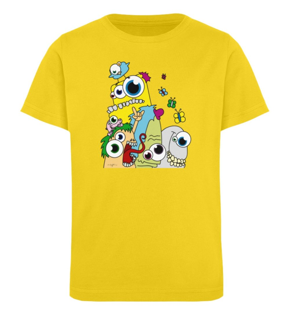 berlin-monster-art-shirt-kids-popart - Kinder Organic T-Shirt-6905