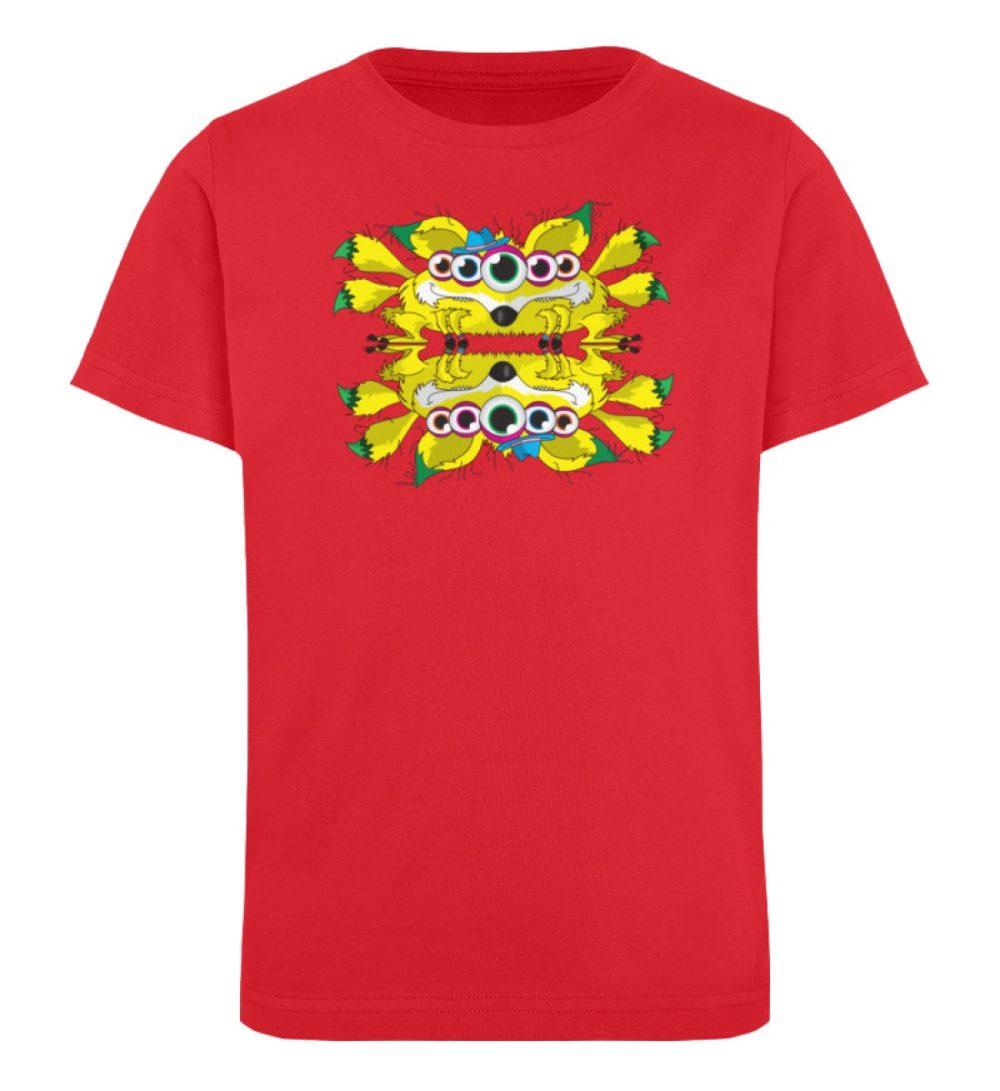 berlin-monster-art-shirt-kids-fox - Kinder Organic T-Shirt-6882