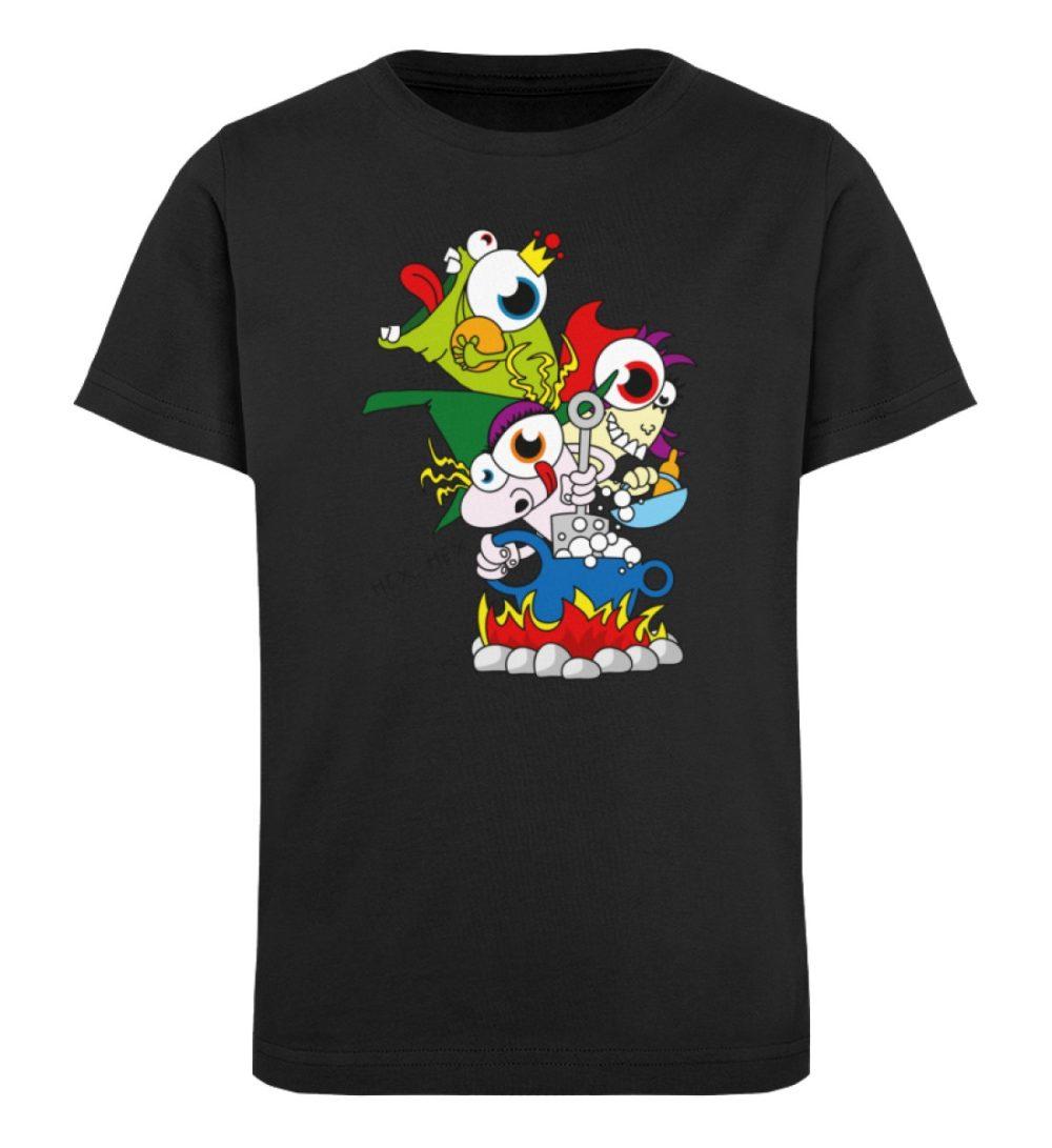 berlin-monster-art-shirt-kids-hex-hex - Kinder Organic T-Shirt-16
