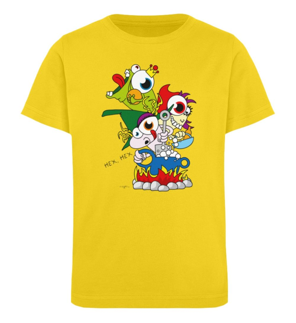 berlin-monster-art-shirt-kids-hex-hex - Kinder Organic T-Shirt-6905