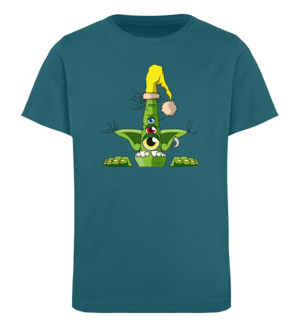 berlin-monster-art-shirt-kids-green - Kinder Organic T-Shirt-6889