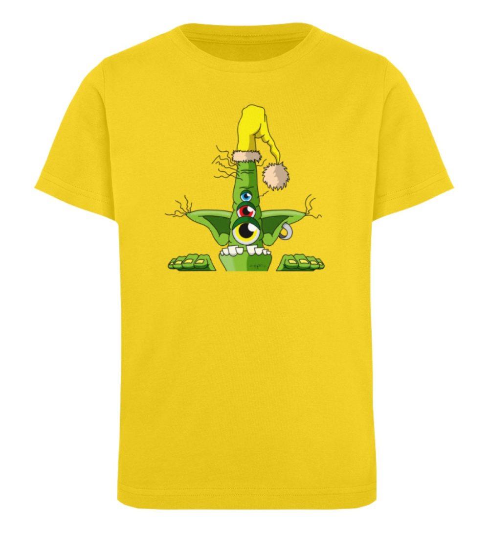 berlin-monster-art-shirt-kids-green - Kinder Organic T-Shirt-6905
