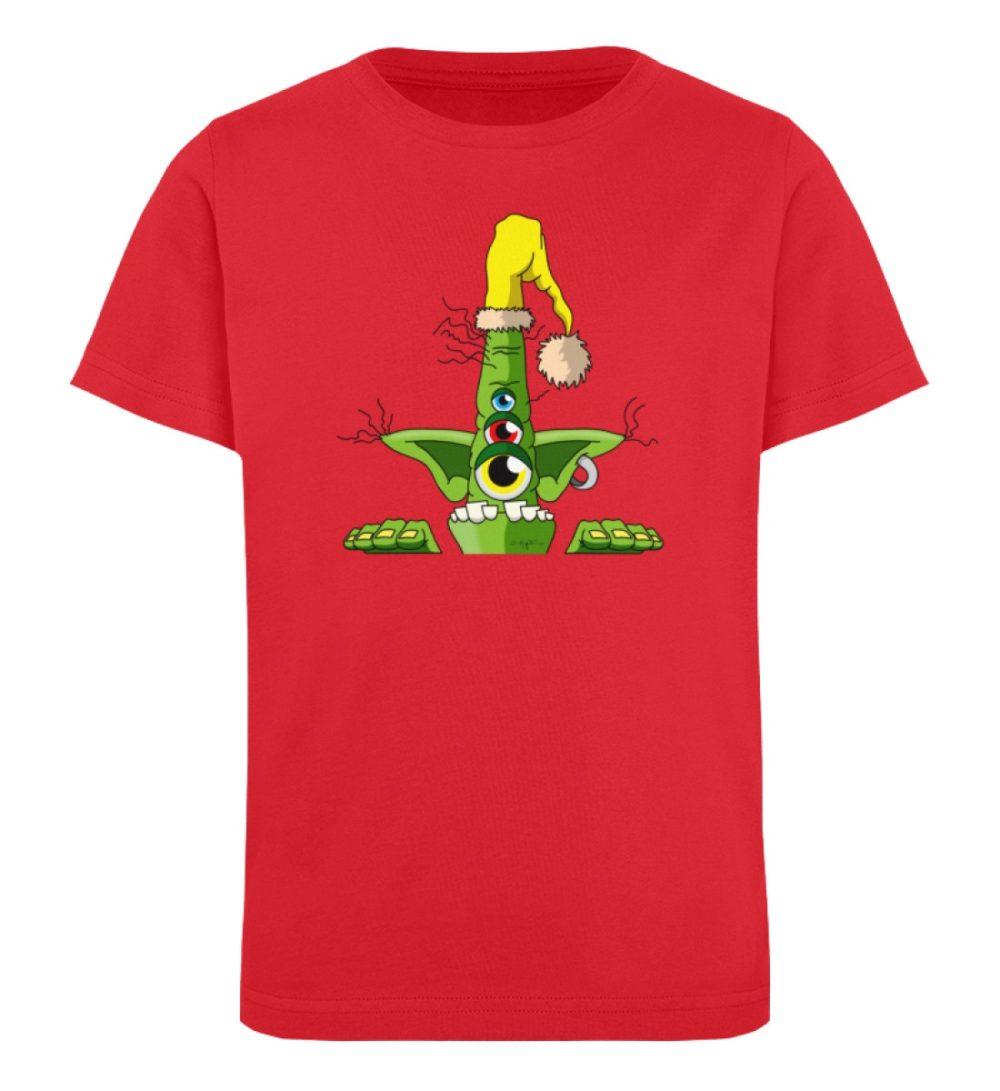 berlin-monster-art-shirt-kids-green - Kinder Organic T-Shirt-6882